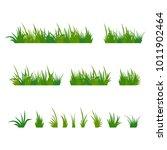 set of green tufts grass ... | Shutterstock . vector #1011902464
