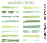 modern watercolor daubs set ... | Shutterstock .eps vector #1011904345