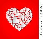 beautiful paper cut out heart... | Shutterstock .eps vector #1011905551