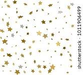 gold star confetti rain festive ...   Shutterstock .eps vector #1011906499