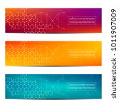 science and technology banners. ... | Shutterstock .eps vector #1011907009