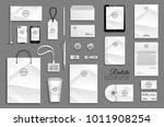 corporate identity template set.... | Shutterstock .eps vector #1011908254