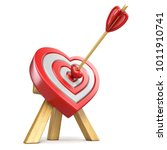 heart shaped target with the... | Shutterstock . vector #1011910741