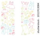 children clothing kindergarten... | Shutterstock .eps vector #1011913084