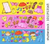 children clothing kindergarten...   Shutterstock .eps vector #1011913165