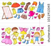 children clothing kindergarten... | Shutterstock .eps vector #1011913345