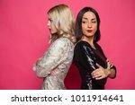 conflict between friends. two... | Shutterstock . vector #1011914641