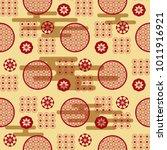 beautiful japanese seamless ...   Shutterstock .eps vector #1011916921