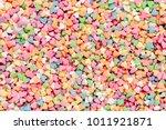 valentine's day composition.... | Shutterstock . vector #1011921871