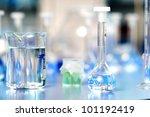 laboratory flasks | Shutterstock . vector #101192419