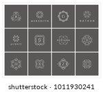 luxury logo set  crest logo | Shutterstock .eps vector #1011930241