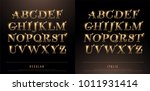 set of elegant gold colored... | Shutterstock .eps vector #1011931414