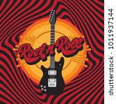 rock'n' roll. vector hand drawn ... | Shutterstock .eps vector #1011937144