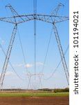 Electric Powerlines Across A...
