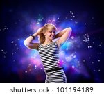 image of young woman and... | Shutterstock . vector #101194189