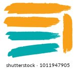 collection of hand drawn... | Shutterstock .eps vector #1011947905