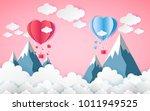 card valentine's day balloon... | Shutterstock .eps vector #1011949525