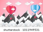 card valentine's day balloon... | Shutterstock .eps vector #1011949531