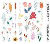 set of hand drawn doodle... | Shutterstock .eps vector #1011951025