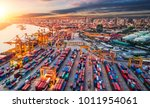 logistics and transportation of ... | Shutterstock . vector #1011954061