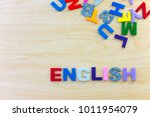 colorful english alphabet... | Shutterstock . vector #1011954079