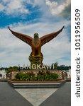 big eagle statue on the eagle... | Shutterstock . vector #1011956509