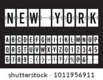 airport mechanical flip board...   Shutterstock .eps vector #1011956911