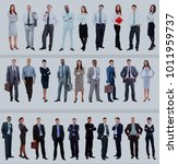 set of business people isolated ... | Shutterstock . vector #1011959737