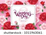 march 8  happy women's day... | Shutterstock .eps vector #1011963061