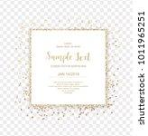 gold glitter square frame... | Shutterstock .eps vector #1011965251