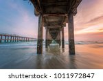 twilight of the beach under the ... | Shutterstock . vector #1011972847
