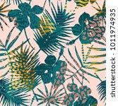 trendy seamless exotic pattern... | Shutterstock .eps vector #1011974935