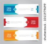 set of modern colorful banner... | Shutterstock .eps vector #1011979699