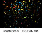 black background with many... | Shutterstock .eps vector #1011987505