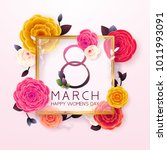 8 march happy international... | Shutterstock .eps vector #1011993091