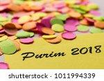 colorful confetti spread over...   Shutterstock . vector #1011994339