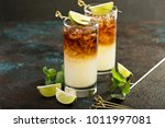 dark and stormy cocktail with... | Shutterstock . vector #1011997081