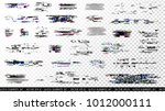 glitch elements set. computer... | Shutterstock .eps vector #1012000111