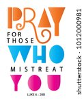hand lettering pray for those... | Shutterstock .eps vector #1012000981