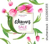 vector women's day sale banner... | Shutterstock .eps vector #1012005355