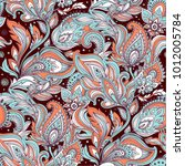indian bandana paisley seamless ... | Shutterstock .eps vector #1012005784