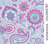 indian bandana paisley seamless ... | Shutterstock .eps vector #1012005787
