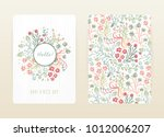 cover design with floral... | Shutterstock .eps vector #1012006207