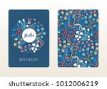 cover design with floral... | Shutterstock .eps vector #1012006219