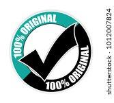 100  original sticker vector... | Shutterstock .eps vector #1012007824