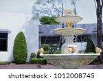 Garden Fountains In Park...