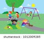 vector cartoon illustration of... | Shutterstock .eps vector #1012009285