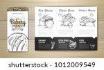 vintage bakery menu design.... | Shutterstock .eps vector #1012009549