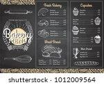 vintage chalk drawing bakery... | Shutterstock .eps vector #1012009564