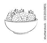 strawberries on bowl | Shutterstock .eps vector #1012010851